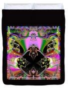 Psychedelic Blackhole Birthday Party Fractal 120 Duvet Cover