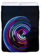 Psychedelic Hula Hoop Duvet Cover by Ilan Rosen