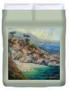 Pt Lobos View Duvet Cover by Carolyn Jarvis