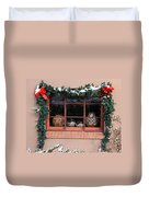 Pueblo Pottery Winter Window Duvet Cover
