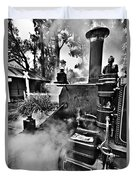 Puffing Billy Black And White V2 Duvet Cover