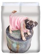 Pug Puppy Pink Sun Dress Duvet Cover