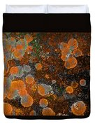 Pumpkin Abstract Duvet Cover