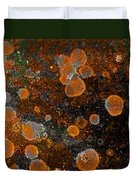 Pumpkin Abstract Square Duvet Cover