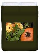 Pumpkin And Gerberas Duvet Cover