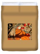 Pumpkin Berries Duvet Cover