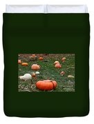 Pumpkin Field Duvet Cover