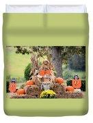 Pumpkin Harvest 2012 Duvet Cover