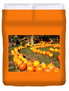 Pumpkin Patch Path Duvet Cover by Carol Groenen