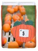Pumpkins For Sale II Duvet Cover