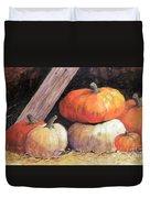 Pumpkins In Barn Duvet Cover