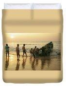 Puri Fishermen Duvet Cover
