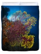 Purple And Yellow Sea Fan In Raja Duvet Cover