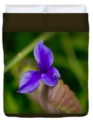 Purple Bromeliad Flower Duvet Cover