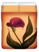 Purple Calla Lily - Square Painting Duvet Cover
