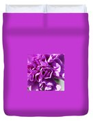 Purple Carnation Duvet Cover
