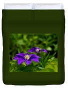 Purple Clematis Flower Duvet Cover