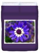Purple Daisy Photoart Duvet Cover