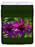 Purple Daisy's Duvet Cover