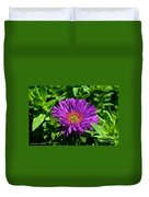 Purple Dome New England Aster Duvet Cover