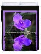 Purple Elegance - Spider Wort Duvet Cover