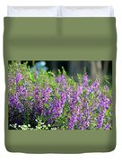 Purple English Garden  Duvet Cover