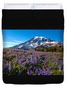 Purple Fields Forever Duvet Cover