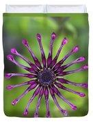 Purple Flower In Bloom Duvet Cover