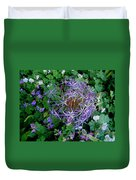 Purple Flower Sphere Duvet Cover