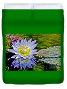 Purple Water Lily Duvet Cover