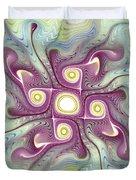 Purple Fractalishus Duvet Cover