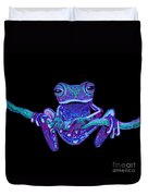 Purple Ghost Frog Duvet Cover