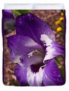 Purple Gladolia Duvet Cover