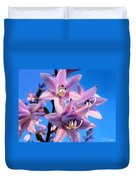 Purple Hosta Blooms Duvet Cover