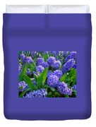 Purple Hyacinths Duvet Cover