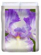 Purple Iris Bliss Duvet Cover