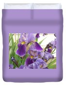 Purple Iris Duvet Cover