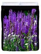 Purple Lavender Flower In Bloom  Duvet Cover