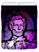 Purple Lincoln Duvet Cover