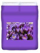 Purple Lotus Duvet Cover