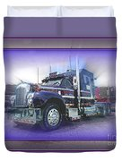 Purple Mack Abstract Duvet Cover