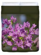 Purple Of The Bougainvillea Blossoms Duvet Cover