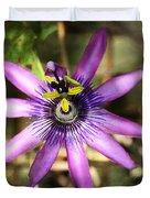 Purple Passion Flower  Duvet Cover