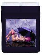 Purple Rain Duvet Cover by Jutta Maria Pusl