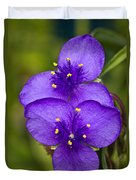 Purple Spiderwort 1 Duvet Cover