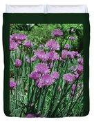 Purple Spikes Duvet Cover