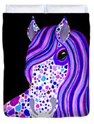Purple Spotted Horse Duvet Cover