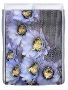 Purple Torch Duvet Cover