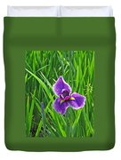 Purple Water Iris Duvet Cover
