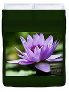 Purple Petals Water Lily Duvet Cover